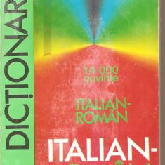 (C2537) DICTIONAR ITALIAN - ROMAN DE GEORGE LAZARESCU, CLUBUL DE CARTE NICULESCU, BUCURESTI, 14 000 DE CUVINTE