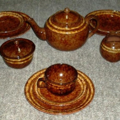 Set / Serviciu - Mic Dejun / Cafea / Desert - ceramica - Germania - marcat - Cana