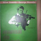 Manual de vioara (volumul3)- Ionel Geanta, George Manoliu - Carte Arta muzicala
