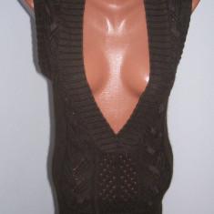 Vesta dama Donna Karan DKNY marime M USA, Marime: M, Culoare: Maro, Bumbac