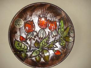 TOAMNA - PLATOU DECORATIV din ceramica (posibil centru de masa)