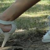 Sandale albe superbe, perfecta stare! Super oferta! - Sandale dama, Culoare: Negru, Marime: 39