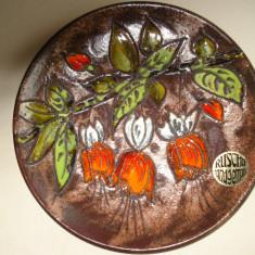 """""""TOAMNA"""" - PLATOU DECORATIV din ceramica (posibil centru de masa)"""