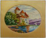Goblen foarte vechi cu Castel pe malul marii (2)