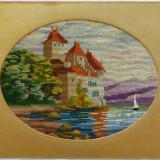 Goblen foarte vechi cu Castel pe malul marii (2) - Tapiterie Goblen