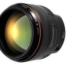 Obiectiv CANON EF 85mm f/1.2 II USM + Filtru UV HOYA HD - Obiectiv DSLR Canon, Tele, Autofocus, Canon - EF/EF-S
