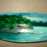 VAS din LEMN pictat - suvenir BRAZILIA