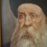 Cap de evreu, tablou vechi ulei pe panza 30x40, semnat, oferta deosebita, Portrete, Altul