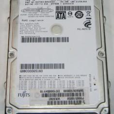 Hard-disk Fujitsu 160 Gb Sata2, MJA2160BH - HDD laptop Fujitsu, 100-199 GB, Rotatii: 5400, 8 MB