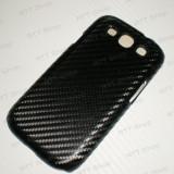 Husa Galaxy S3 Imitatie Carbon 3D Negru