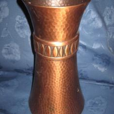 Vaza decorativa mare din arama, h- 35m d baza- 19, gura- 15 cm.