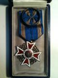 COROANA ROMANIEI grad OFITER,pt.civili,model 1,argint aurit marcat A.M.D.CUTIE