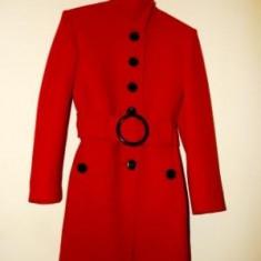 Palton dama NOU, Marime: 38, Culoare: Rosu