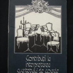 G. HAMZA - CONTRIBUTII LA INTERPRETAREA CVARTETULUI DE COARDE