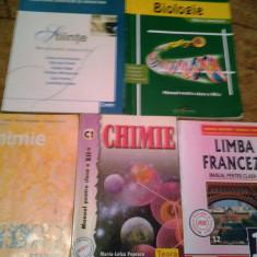 MANUALE ROMANA, CHIMIE, LIMBA FRANCEZA, BIOLOGIE, STIINTE, MEMORATOR MATEMATICA - Manual scolar Altele, Art, Limbi straine