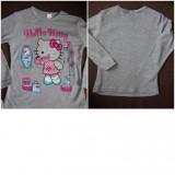 BLUZA=3/4ani=-Hello Kitty PT FETITE=NOI==GRI,,, bumbac
