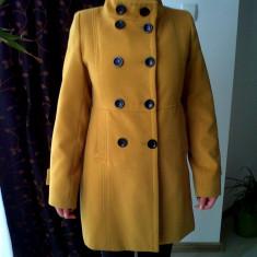 PALTON de dama la un super pret - Palton dama, Marime: 38, Culoare: Mustar