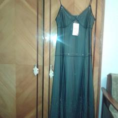 Rochie ZARA, de culoare neagra, NOUA, mar L - Rochie de seara Zara, Marime: L, Culoare: Negru, Maxi, Cu bretele