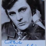 Autograful lui Florin Piersic pe fotografia din Almanahul literar din 1974