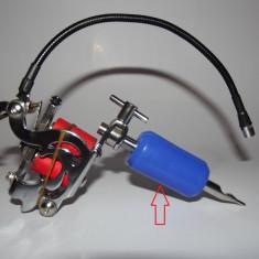 Maner de silicon (grip) 25 mm ALBASTRU pentru masina de tatuat