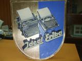 Reclama romaneasca carton anii 30 masina scris IDEAL ERIKA