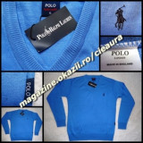 PULOVER BARBATI ANCHIOR 100% LANA ALBASTRU GEN FIRMA RALPH LAUREN NEW EDITION