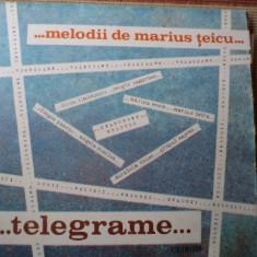 Telegrame melodii de Marius Teicu disc vinyl lp Muzica Pop electrecord usoara romaneasca, VINIL
