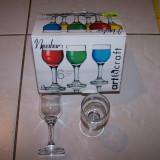 Set 6 pahare sticla pentru servire bauturi spirtoase