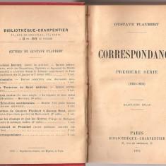 (C1830) CORRESPONDANCE DE GUSTAVE FLAUBERT, BIBLIOTHEQUE CHARPENTIER, PARIS, 1889, 1891, CORESPONDENTA LUI GUSTAVE FLAUBERT