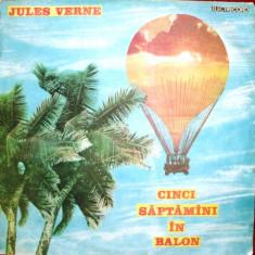 CINCI SAPTAMANI IN BALON de JULES VERNE (DISC VINIL) - Muzica pentru copii electrecord