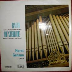 HORST GEHANN - RECITAL DE ORGA DIN BACH si BUXTEHUDE (DISC VINIL) - Muzica Clasica electrecord