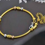 FRUMOASA  BRATARA  9K  GOLD  FILLED,  IN  2  NUANTE,  PUNGUTA  ELEGANTA  CADOU,  LIVRARE  GRATUITA