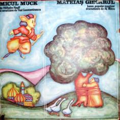 MICUL MUCK de WILHELM HAUFF si MATEIAS GASCARUL de AL MITRU (DISC VINIL) - Muzica pentru copii electrecord