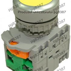 Comutator cu retinere, 2 contacte, galben-125045