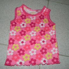 Maieu pentru fetite, marimea 6- 9 luni, model floral, REDUS ACUM!, Culoare: Multicolor, Maiouri