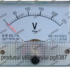Ampermetru analogic de panou, 100 mA, curent continuu-111440