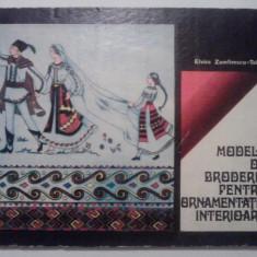 Modele de broderie pentru ornamentatie interioara - Elvira Zamfirescu-Talianu - Carte traditii populare