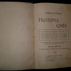 O.Minar, Filozoful Conta -Opere Complecte -Prima editie- 1910 - Carte Filosofie