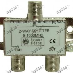 Spliter semnal antena, 2 iesiri-122425, Splitter TV
