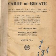 Ecaterina Comsa - Buna Menajera sau Carte de Bucate ( editia IX, interbelica ) - Carte Retete traditionale romanesti
