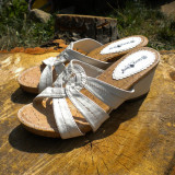 sandale albe dama mar.38