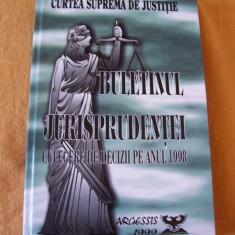 BULETINUL JURISPRUDENTEI - CULEGERE DE DECIZII, CARTEA ESTE APROAPE NOUA ! - Carte Jurisprudenta