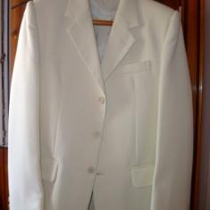 Costum haine barbati, crem, marimea 48 - Costum barbati, 3 nasturi, Normal
