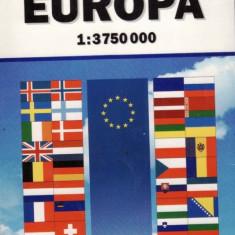 EUROPA - HARTA RUTIERA SI POLITICA 1:3750000