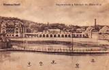 Ok-1222- Romania, Ocna Sibiului, Vizakna, c.p.necirc.1915: Hotel, lac, animat