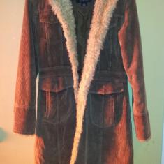 Palton iarna de dama, de la Static, marimea S, bumbac, usor folosit