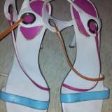 SH: Sandale pentru femei de la Enzo Angiolini 37, ca noi - Sandale dama, Culoare: Alb, Marime: 37.5