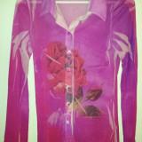 Bluza roz de la Twenty One 21, made in SUA, marimea M, ca noua - Bluza dama, Marime: M, Culoare: Rose, Maneca lunga, Universala, Nylon