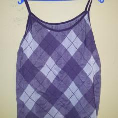 Bluza dama de vara, fara maneci, ca noua, Marime: S, Culoare: Mov, S, Fara maneca, Universala