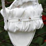 pantofi sandale saten mireasa